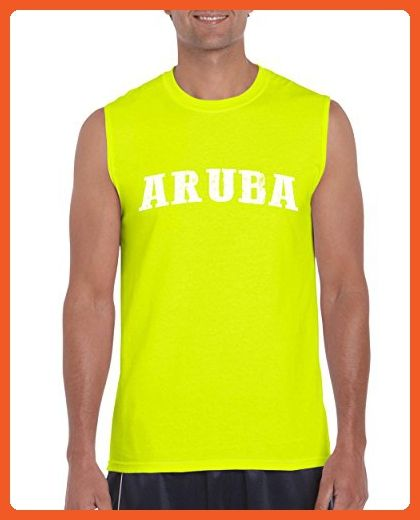 Ugo What to do in Aruba? Travel Time Flag Map Guide Flights Top 10 Things To Do Ultra Cotton Sleeveless Men's T-Shirt - Cities countries flags shirts (*Partner-Link)
