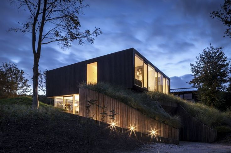 Shipping container home.Modern rural elegance.