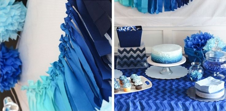 Blue Ombre Party! Love all of these details by @Mandy @ HouseofRoseBlog.com