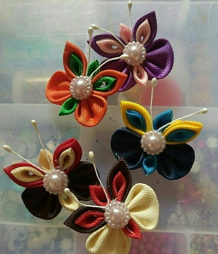 Butterfly Hairclips Kanzashi
