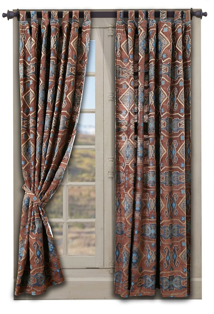Southwestern Curtains in Native American Patterns