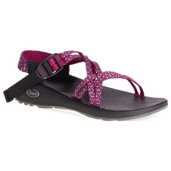 Chaco Women's Zx/1 Classic Sandal ($105) ❤ liked on Polyvore featuring shoes, sandals, batten beet, chaco sandals, chaco, chaco footwear and chaco shoes