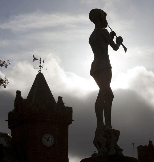 Statue of Peter Pan in Kirriemuir  Erected in honour of author J.M. Barrie who was born in Kirrimuir in 1860