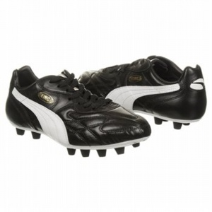 SALE - Puma EC1261297 Soccer Cleats Mens Black Leather - Was $100.00 - SAVE $15.00. BUY Now - ONLY $85.00