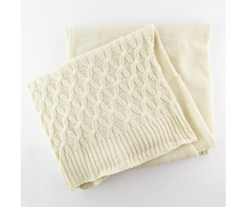 Soft Knit Natural Baby Blanket