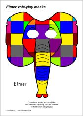 Elmer role-play masks (SB4103) - SparkleBox