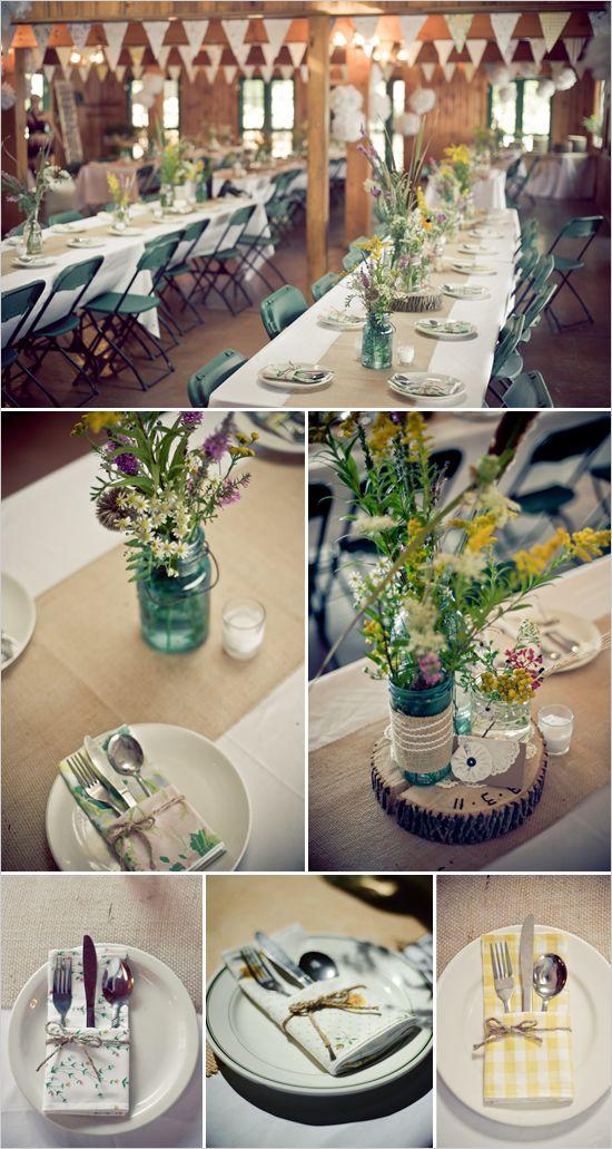 mason jar wedding florals  http://zwickerhillphotography.com