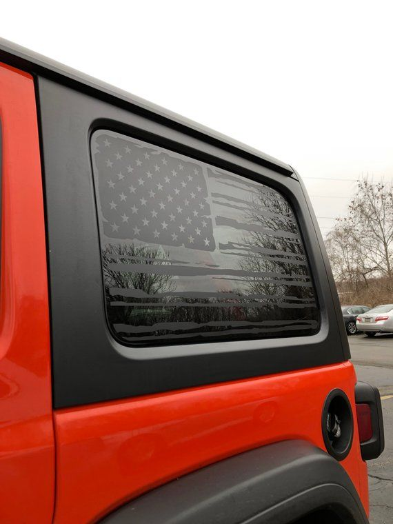 2018 Jl Jeep Wrangler Unlimited American Flag Decal Etsy Jeep