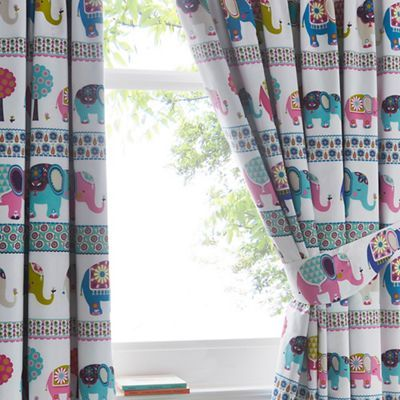 Butterfly Home by Matthew Williamson White elephant parade curtains-   Debenhams