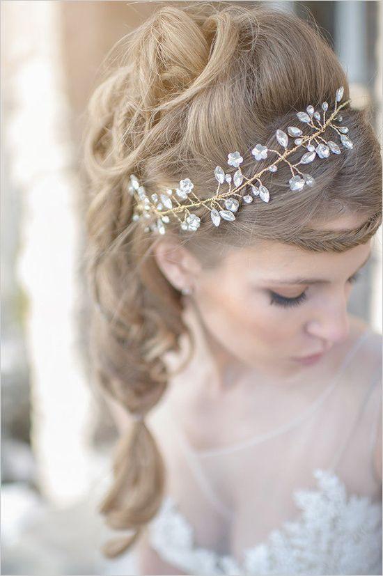 sparkling golden wedding hair piece Hair News Network ~ HNN ~ LIKE US ON FACEBOOK! https://www.facebook.com/pages/Hair-News-Network/131179072930