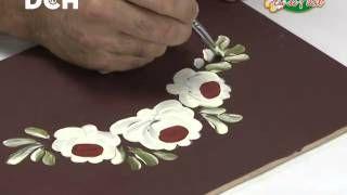 3clase pintura decorativa. Estilo Bauern, técnica doble carga