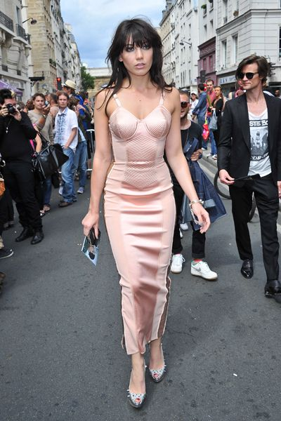 Milla Jovovich, Daisy Lowe at Paris Fashion Week