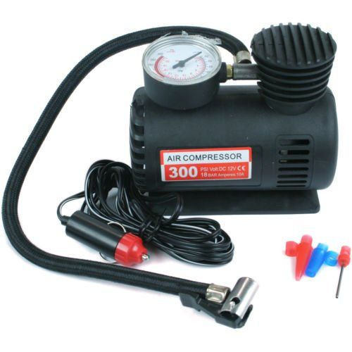 buy now   £8.38   12V COMPACT AIR COMPRESSOR PUMP 250 PSI CIGARETTE BIKE CAR VAN TYRE INFLATOR Easy to use. Just plug into your car cigarette lighter for power. Slip the  ...Read More