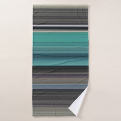 Abstract #1: Teal and grey Bath Towel - modern gifts cyo gift ideas personalize