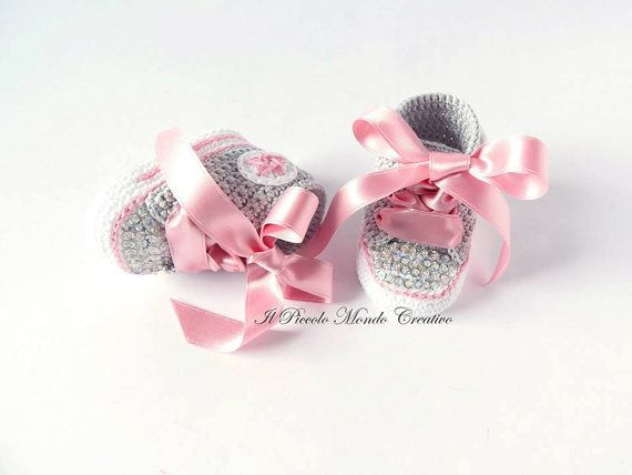 Baby Booties Baby Sneakers Baby Converse by PiccoloMondoCreativo