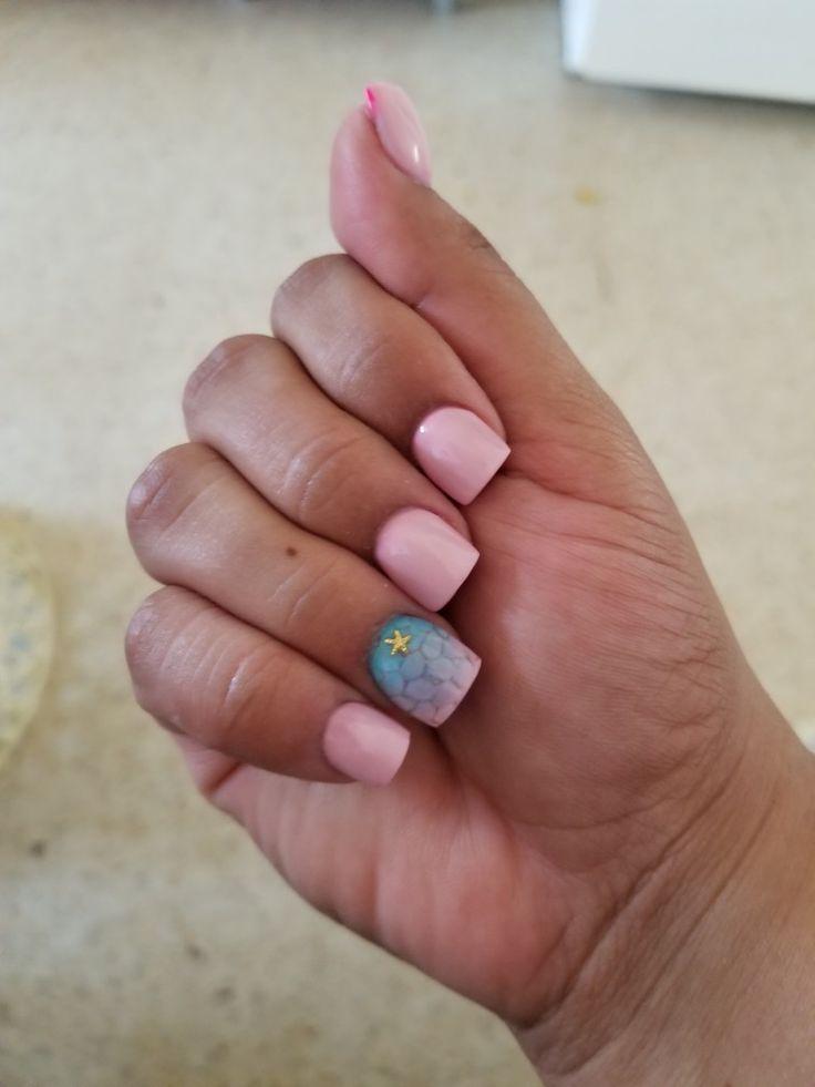 Nails Pink,Blue,Stars  By Aixa P.Técnica de uñas Profesional  Vietnam Nails and Spa Puerto Rico