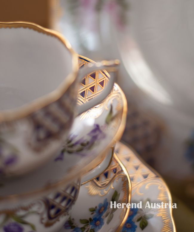 Triangles of MTFC Tea Cups - Herend Porcelain - Fine china