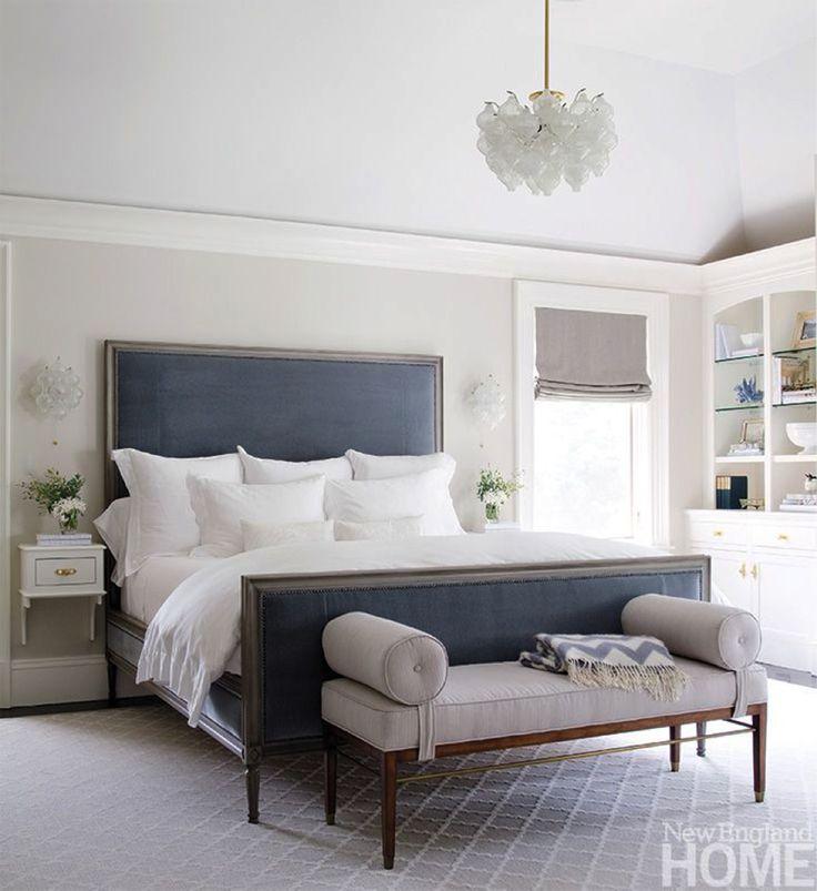 All white bedding creates that crisp hotel