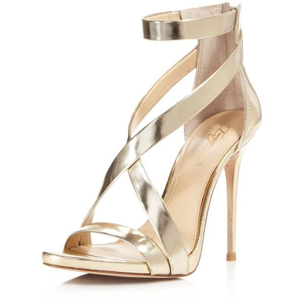 Imagine Vince Camuto Devin Metallic Leather High Heel Sandals (14005 ALL) ❤  liked on