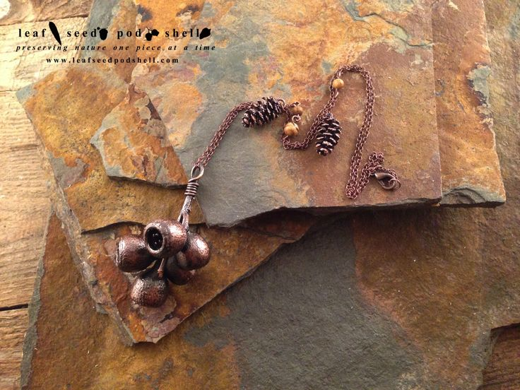 This is a beautiful gum nut cluster with two tiny cones plated in an antique copper finish. Also features 3 speckled jasper natural stone beads. #leafseedpodshell #leafseedpodshelljewelry #leaves #gumleaf #seeds #pods #shells #copper #electroform #electroforming #electroformed #electroplated #electroplating #nature #natural #rustic #plating #jewelry #jewellery #pendant #pendants #handmade #handmadejewelry