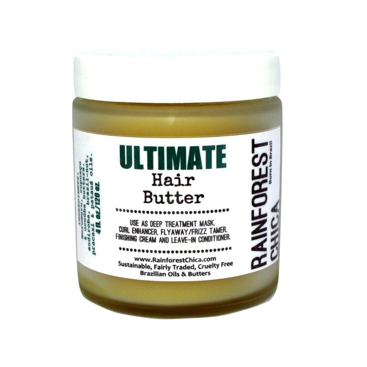 Ultimate Hair Butter - Deep treatment, leave-in, natural hair, curls, chemically treated hair - Rainforest Chica