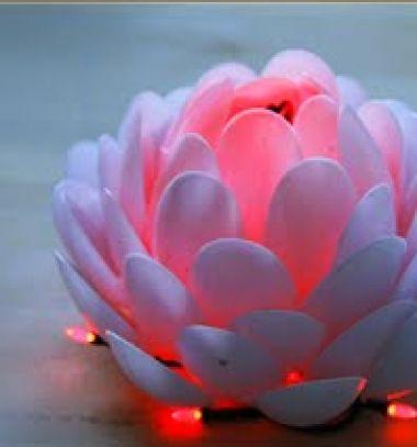 DIY plastic spoon lotus lamps // Tavirózsa lámpák műanyag kanalakból // Mindy - craft tutorial collection //