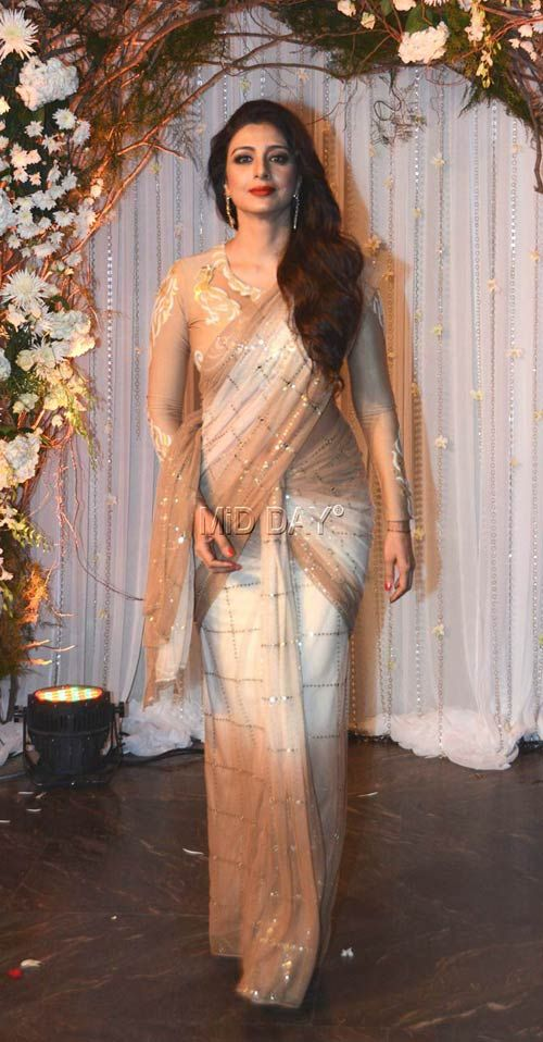 Tabu at Bipasha Basu, Karan Singh Grover's wedding reception. #Bollywood #Fashion #Style #Beauty #Hot #Wedding