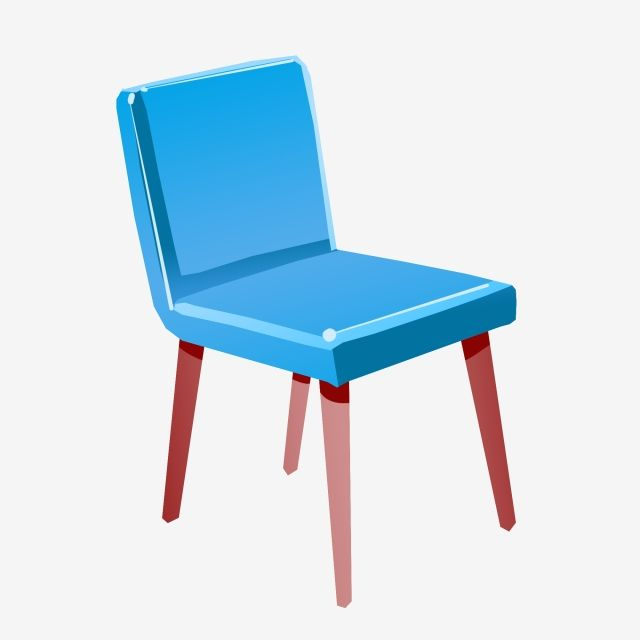 Blue Chair Cartoon Illustration Hand Drawn Chair Illustration Red Chair Legs Soft Cushion Creative Furniture Illustration Blue Chair Png Transparent Clipart Dekorasi Rumah Dekorasi Rumah