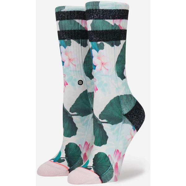 Stance Jaclyn Socks ($14) ❤ liked on Polyvore featuring intimates, hosiery, socks, crew socks, sports socks, seamless socks, sport socks and sports crew socks