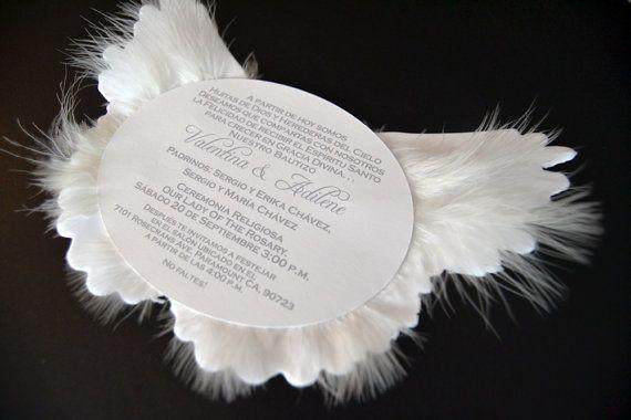 Angel Wing Invitation Angel Baby Shower Invite Heaven Sent