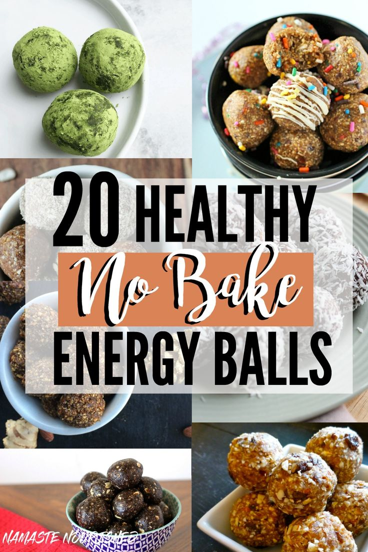 These 20 Healthy No-Bake Energy Ball Recipes are perfect for a post-workout snack, healthy kid's lunchbox snack, road trip, or anytime you need a healthy bite to eat!