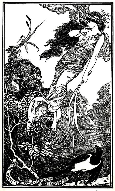 anachronisticfairytales: The Lovely Ilonka illustration by H.J. Ford for The Crimson Fairy Book by Andrew Lang