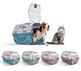 10569 Transportín de plástico modelo Rhino para perros y gatos de 51 cm - Rosa