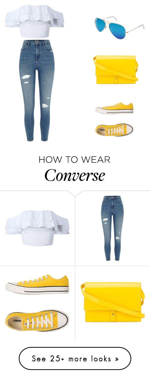 """Untitled #34"" by natalijafaye on Polyvore featuring River Island, Converse, PB 0110 and Ray-Ban"