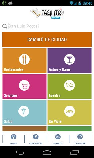 Facilité es un directorio donde encontraras de todo, teléfonos, direcciones, contacto, promociones, descripción y más de Restaurantes, Bares, Antros, Directorio Medico, Eventos, Servicios de belleza, para el hogar, de transporte, hoteles, para fiestas y más. <br>Disponible en San Luis Potosí, Monterrey, Querétaro, Saltillo, Guadalajara, DF, San Miguel de Allende y en el resto de la república proximamente.<br>Con esta aplicación podrás hacer reservaciones en tus restaurantes de preferencia…