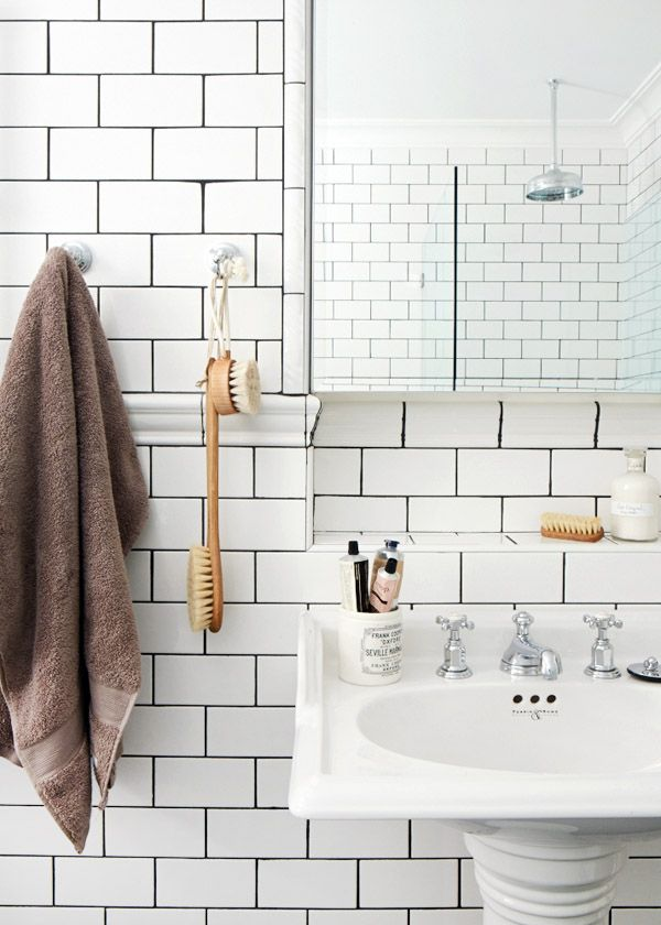 Bathroom Subway Tile Dark Grout 56 best subway tile grout images on pinterest | tile grout