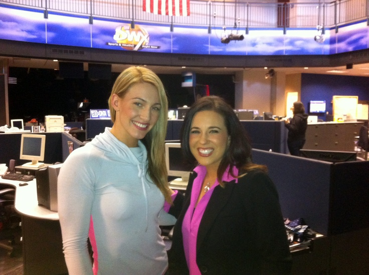 Mikaela Mayer USA #Boxing National Team member. #1 @141 lbs and 2016 Olympic hopeful. With Michelle Dapper @KHQ Local SWX #Spokane    See her compete  http://northernquest.com/experience/entertainment#package-4666