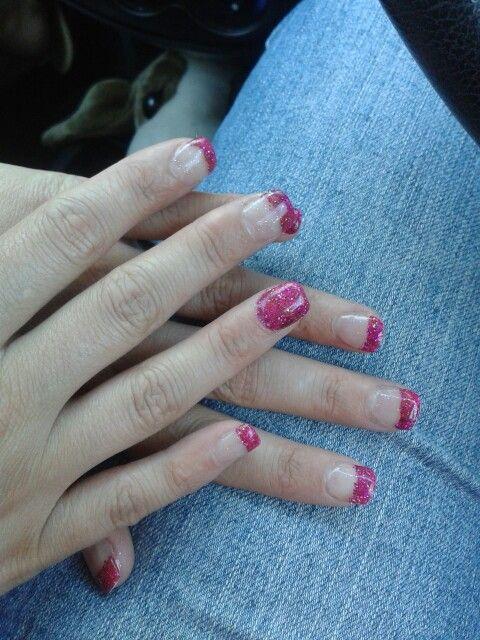 Glitzy pink