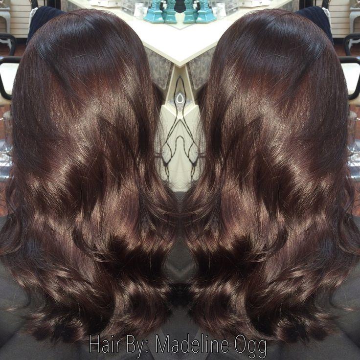 Deep Chocolate Brown With Red Violet Undertones My Hair