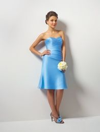 Style 7041S Satin Cocktail Length Dress Optional Spaghetti Straps & Modesty Piece      Sizes: 0 to 30W, 8JB to 14JB  Also available in floor length as style 7041.