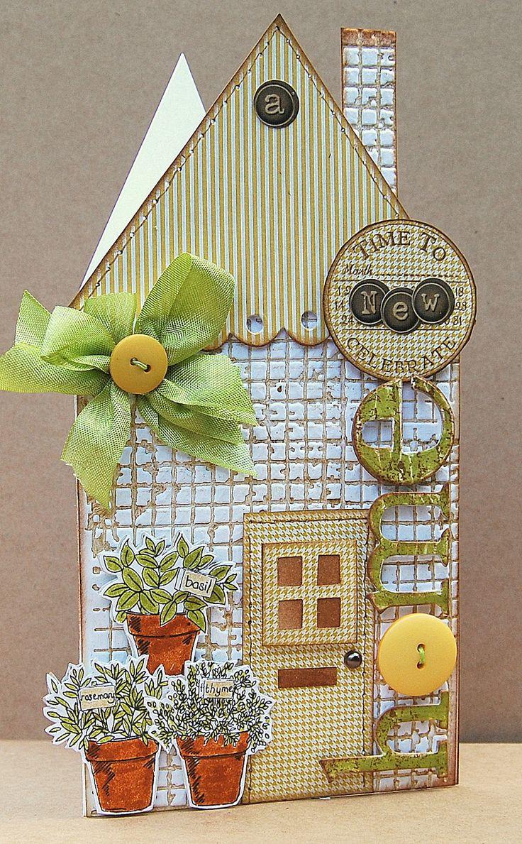 Card Making Ideas For Housewarming Part - 44: LOTVu0027s Ideas To Inspire: Kitchen Herbs U2026. Housewarming CardNew Home CardsHouse  ...