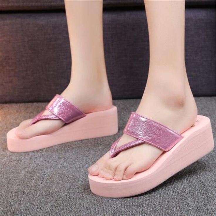 Summer Wedges Female Slippers Designer Flip Flops Thick Bottom Beach Slides Sandals Women Shoes Casual Slippers Lady