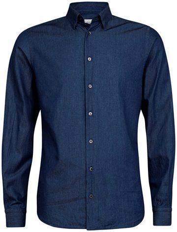 Høstens Relaxed Formel skjorter i flotte farger og myk kvalitet. Blå - Dressmann