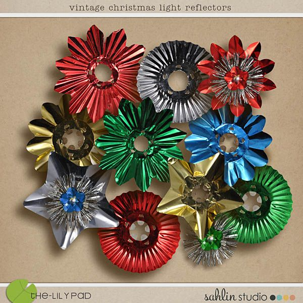 Vintage Christmas Light Reflectors - Wish I could find these!