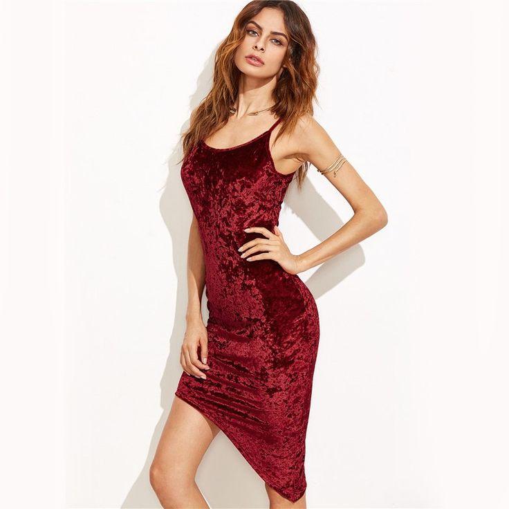 Moda Mulher Sofisticada Calitta Brasil, Vestido para jantar em Restaurante Assimétrico Vermelho Sangue Veludo Festa Elegante Luxo Feminino. Compre Roupas online nas lojas Calitta.