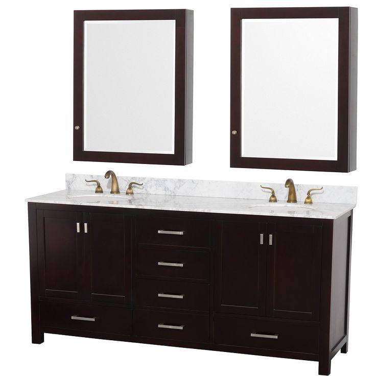 Paris 60-Inch Espresso Double-Sink Bathroom Vanity With Mirrors 92 best master bed & bath images on pinterest | bathroom ideas