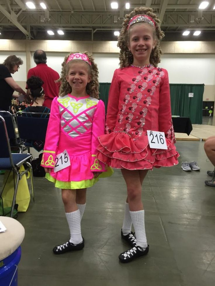 Lovely Pink Celtic Solo Irish Dance Dress Solo Costume For Sale