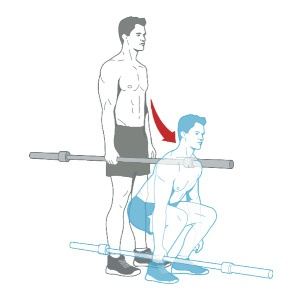 1 SUITCASE DEADLIFT   Grasp a barbell with your right hand at your side. Move your hips back and bend your knees until your thighs are parallel to the floor. Pause for a second. Then, without rounding your back, drive your feet into the floor and stand. Do a set, then repeat with your left hand.