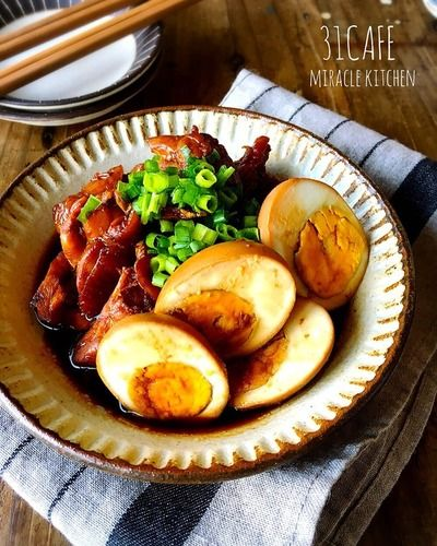 ♡お鍋1つde超簡単♡鶏と卵のお酢テリ煮♡【鶏もも肉*甘辛*作り置き ...