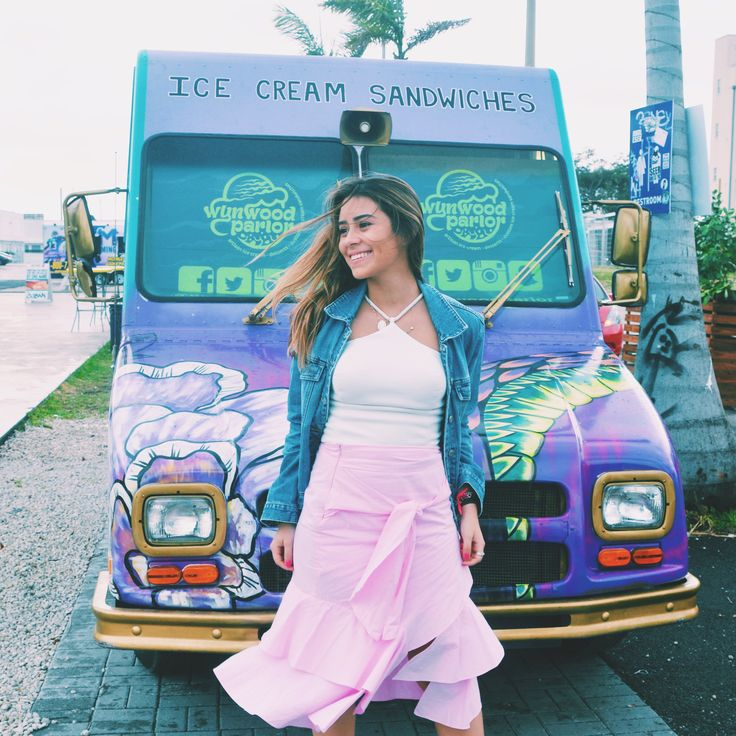 Miami, Wynwood walls, ice cream food truck, old jacket